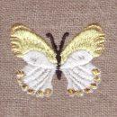モンシロチョウ[蝶々]刺繍図案デザイン