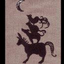 ブレーメンの音楽隊シルエット[グリム童話]刺繍図案デザイン
