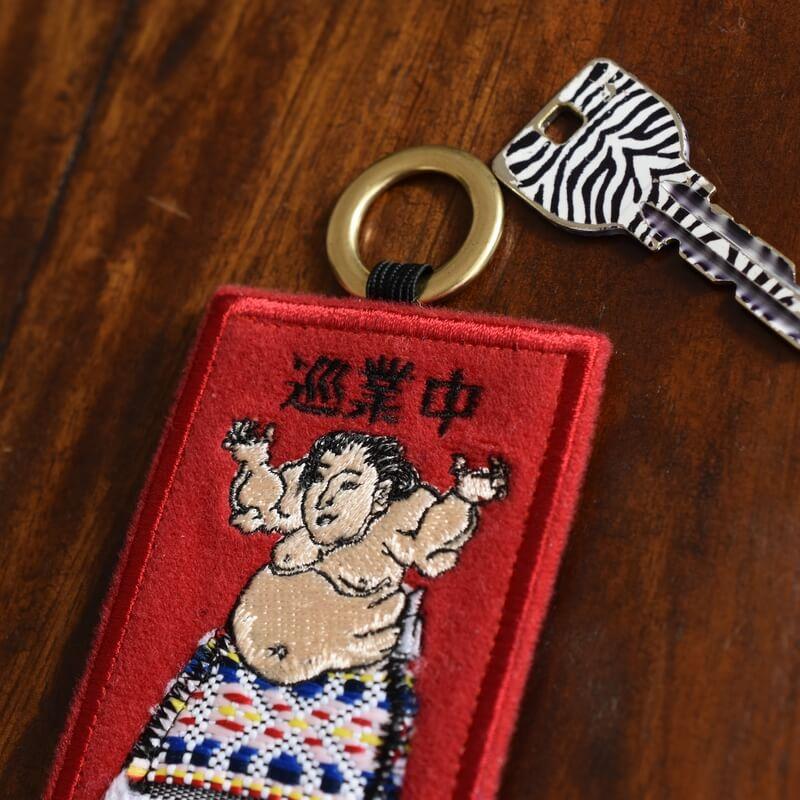 相撲番付カードRD巡業中カギ横から