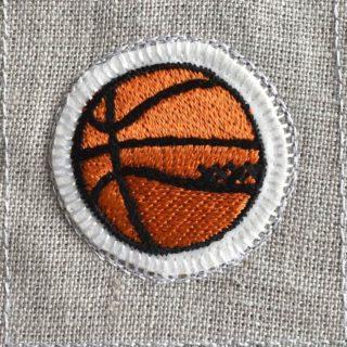 バスケットボール刺繍図案ステッカー