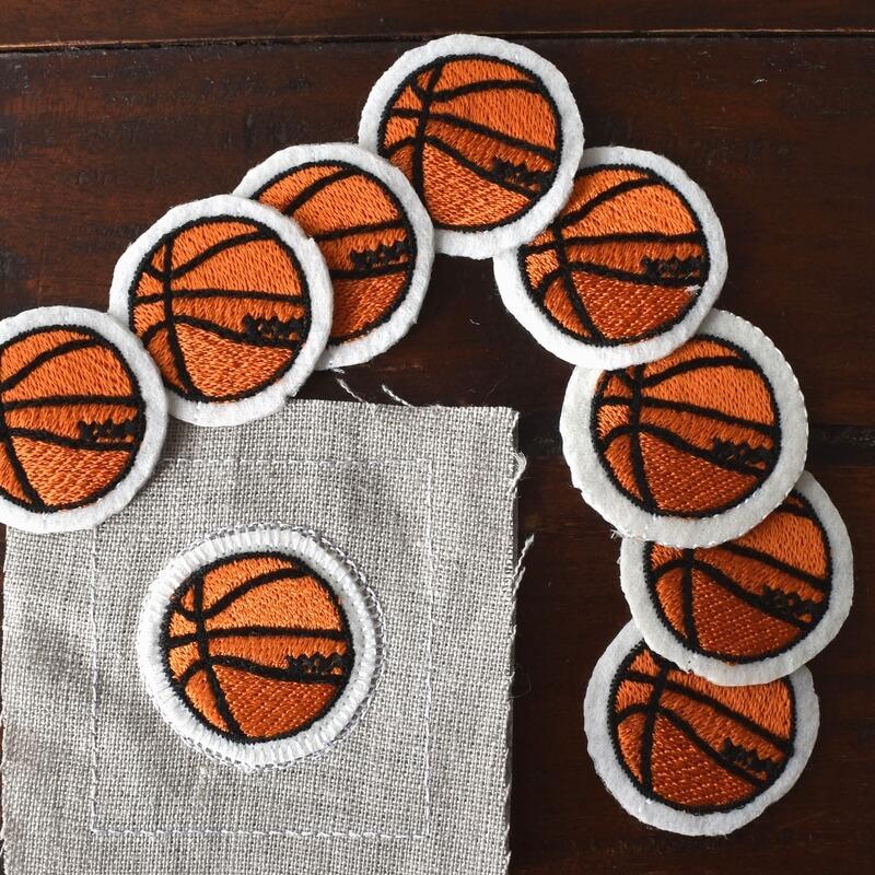 バスケットボール刺繍図案ステッカーシュート