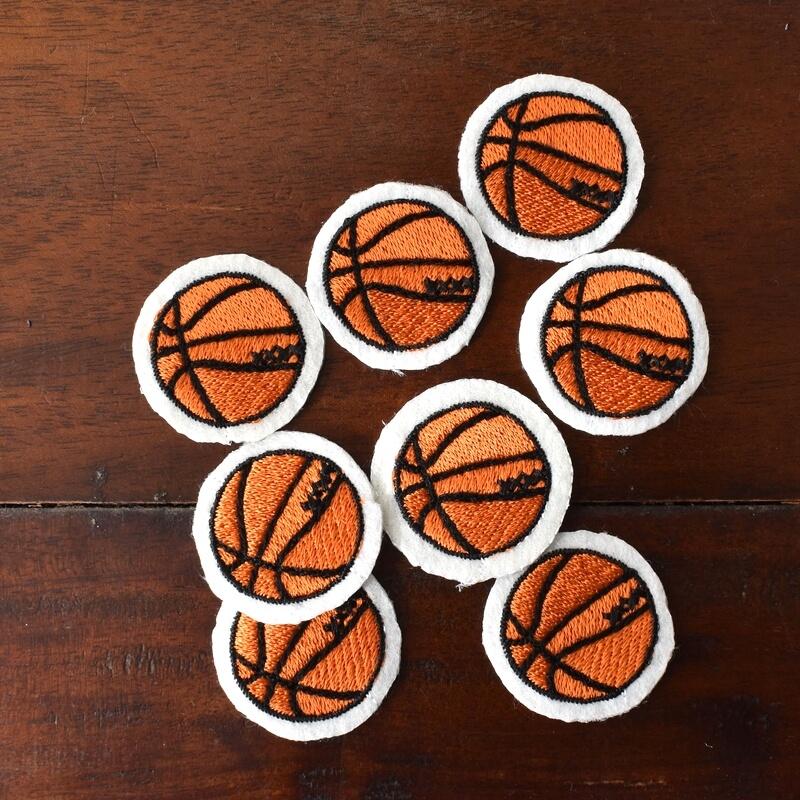 バスケットボール刺繍図案ステッカーたくさん