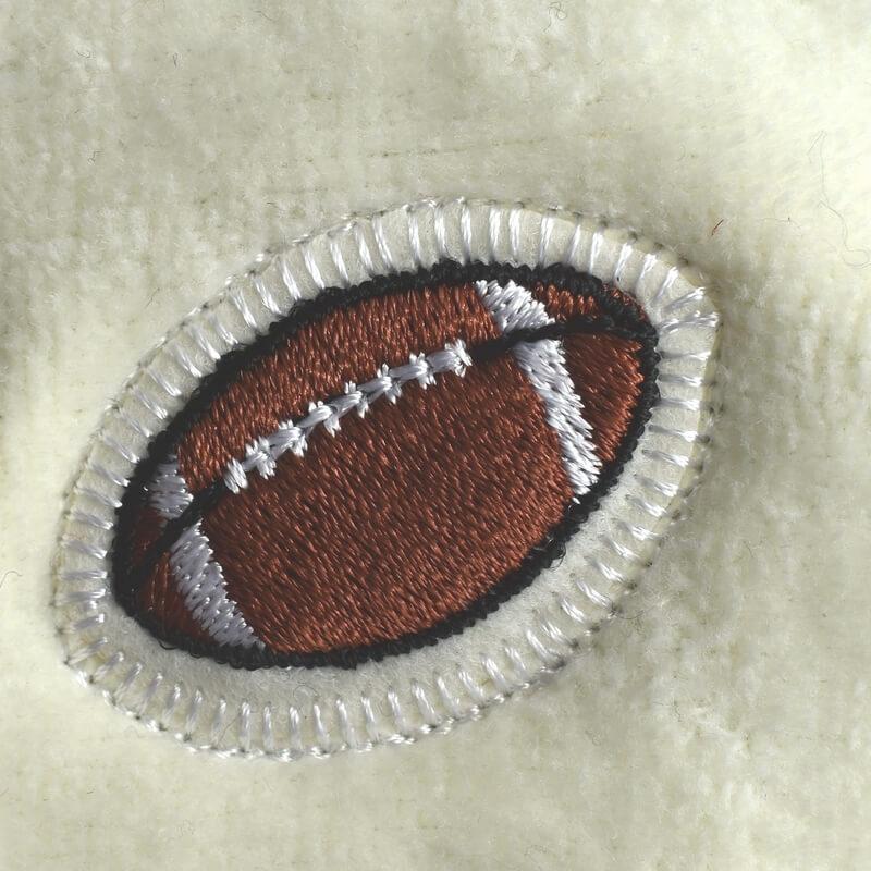 ラグビーボール刺繍図案ステッカータオル
