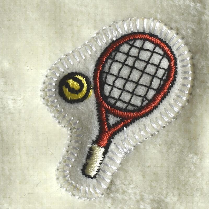 テニス刺繍図案ステッカータオル
