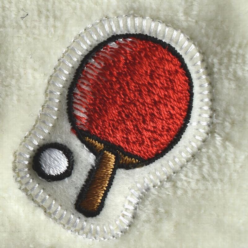 卓球刺繍図案ステッカータオル