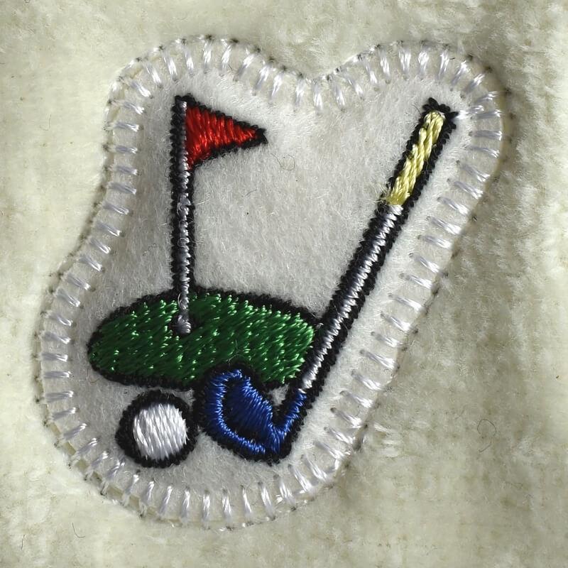ゴルフ刺繍図案ステッカータオル