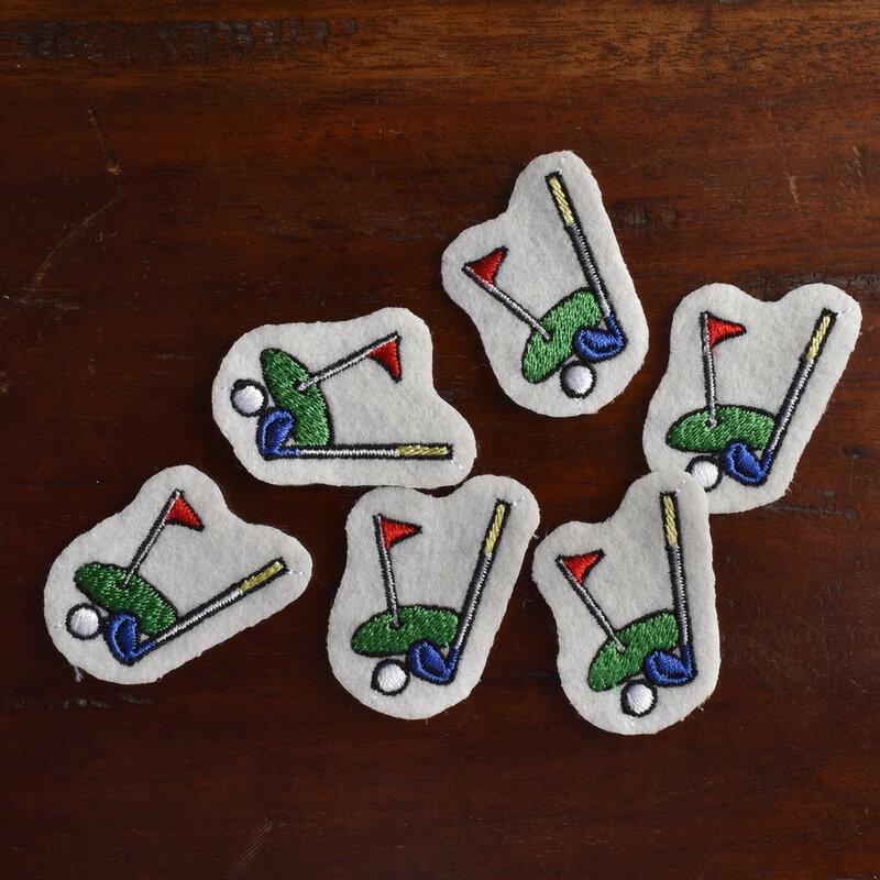ゴルフ刺繍図案ステッカーひらおき