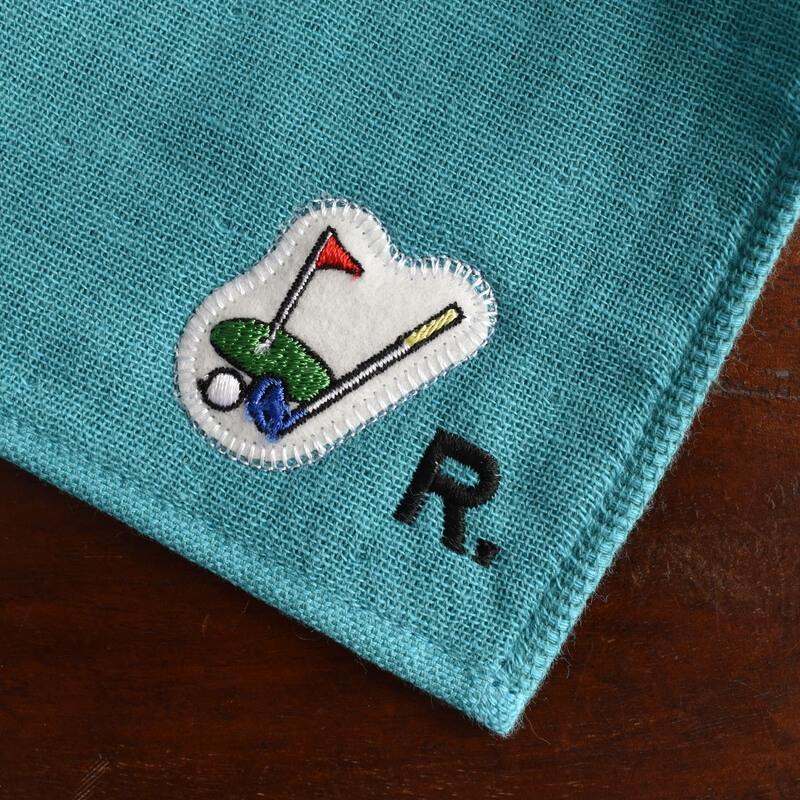 ゴルフ刺繍図案ステッカータオルへ
