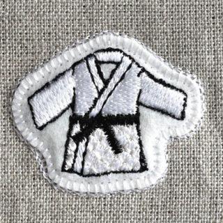 柔道刺繍図案ステッカートップ