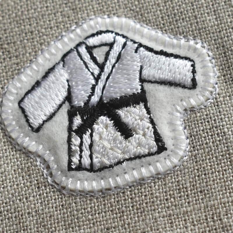 柔道刺繍図案ステッカートップ2