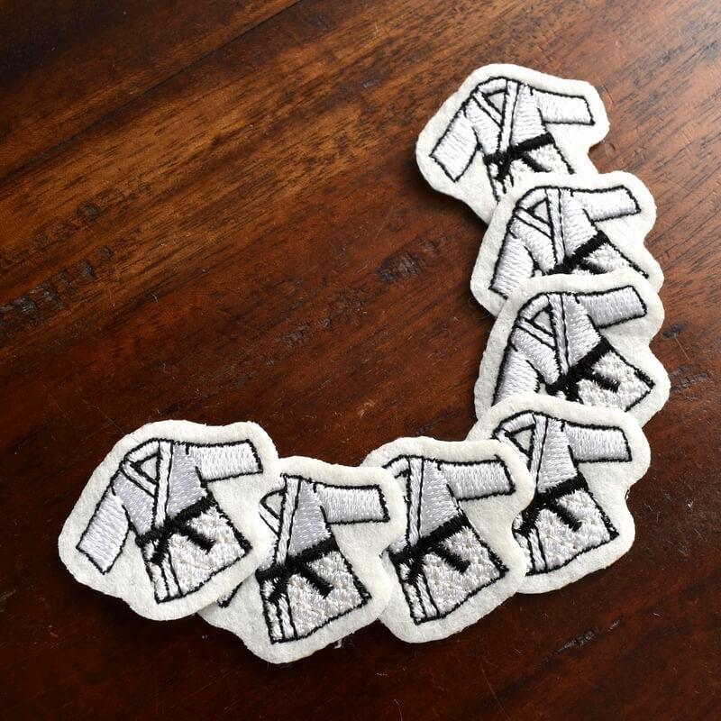 柔道刺繍図案ステッカーチューチュートレイン