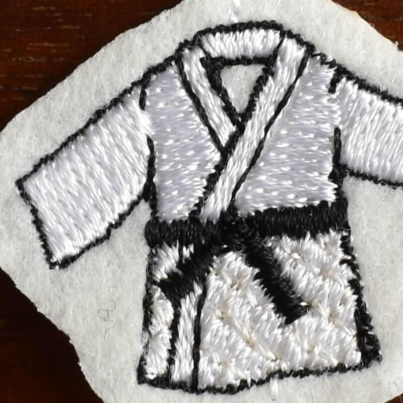 柔道刺繍図案ステッカーアップ