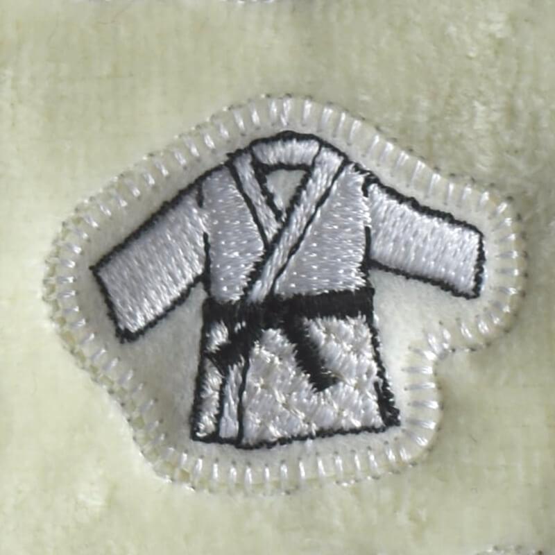 柔道刺繍図案ステッカータオル