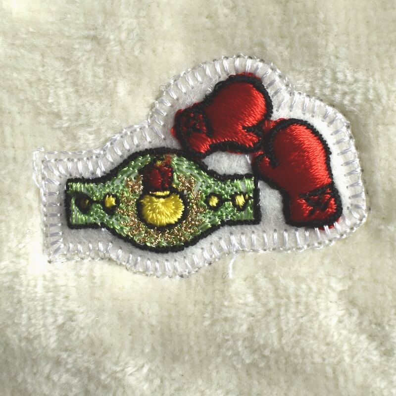 ボクシング刺繍図案ステッカータオル