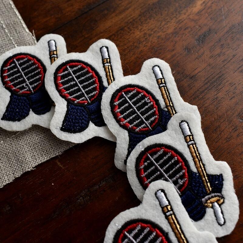 剣道刺繍図案ステッカーひらおき