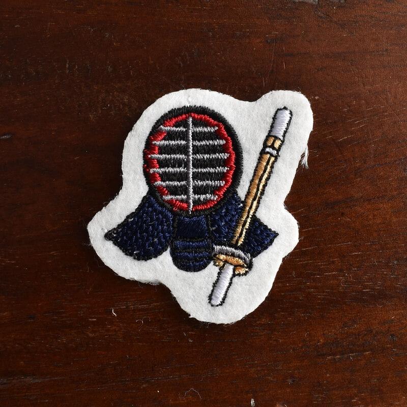 剣道刺繍図案ステッカー1個