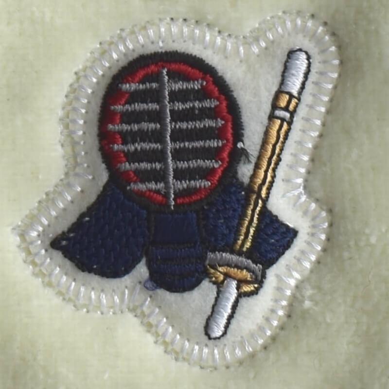 剣道刺繍図案ステッカータオル