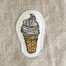 ソフトクリーム[スイーツ]刺繍図案ステッカー