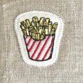 フレンチフライポテト刺繍Largeステッチ