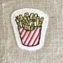 フレンチフライポテト[お食事]刺繍図案ステッカー