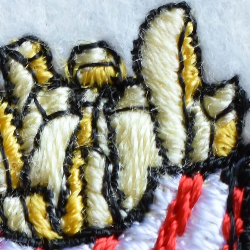 フレンチフライポテト刺繍アップ