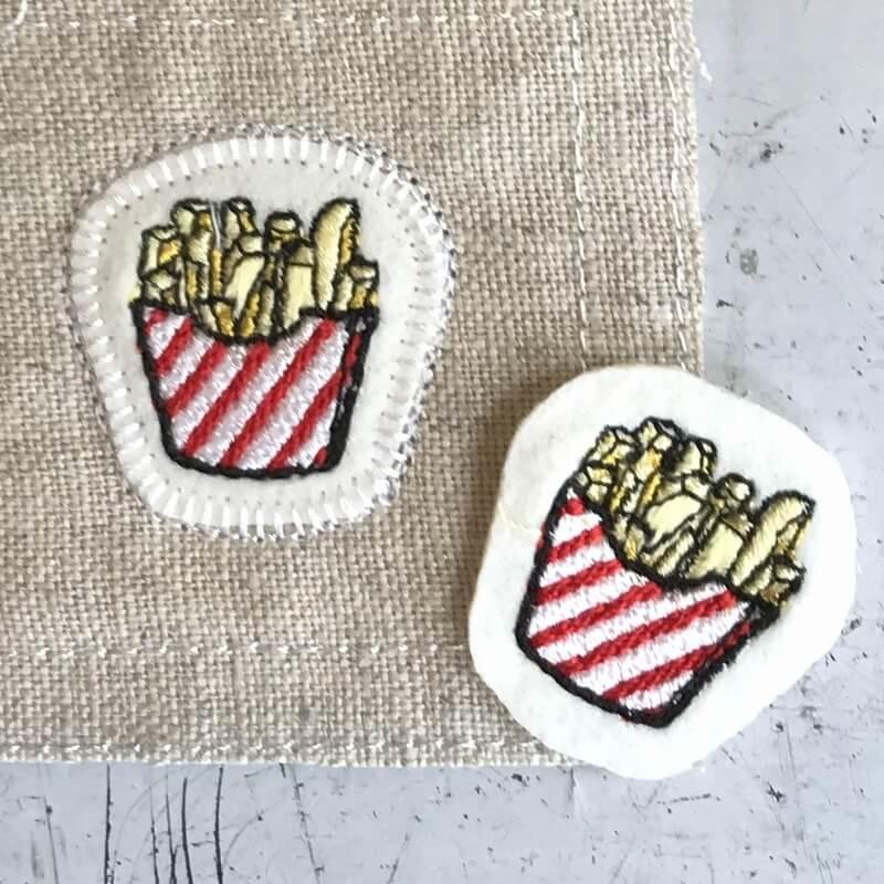 フレンチフライポテト刺繍ステッチイメージ