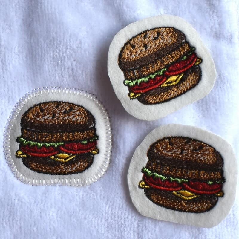 チーズハンバーガー刺繍タオルイメージ