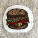 チーズハンバーガー[お食事]刺繍図案ステッカー