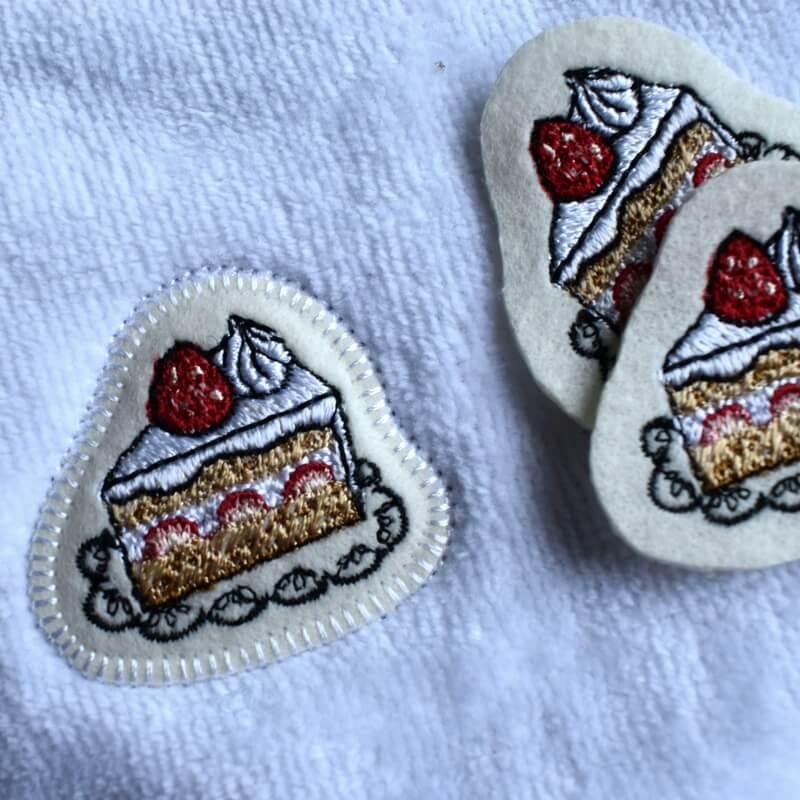 イチゴショートケーキ刺繍タオルイメージ