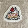 イチゴショートケーキ刺繍トップ
