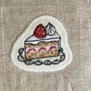 イチゴショートケーキ[スイーツ]刺繍図案ステッカー