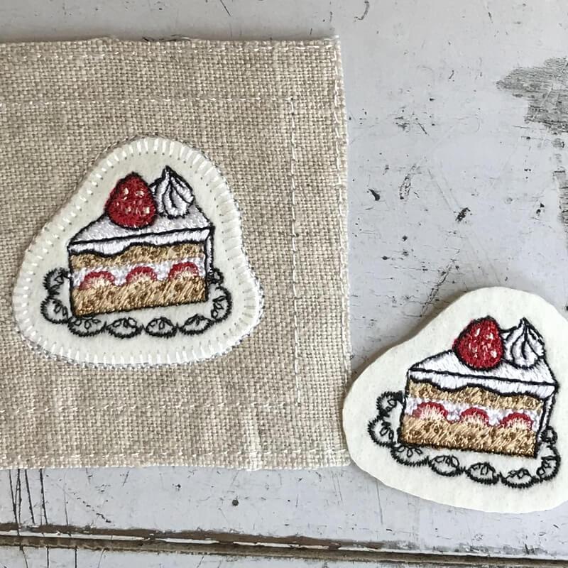 イチゴショートケーキ刺繍ステッチイメージ