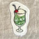 クリームソーダ[ドリンク]刺繍図案ステッカー