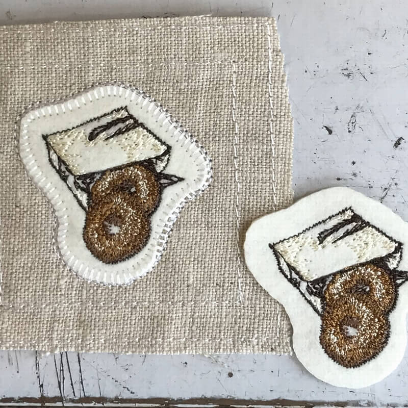 ドーナツ刺繍ステッチイメージ