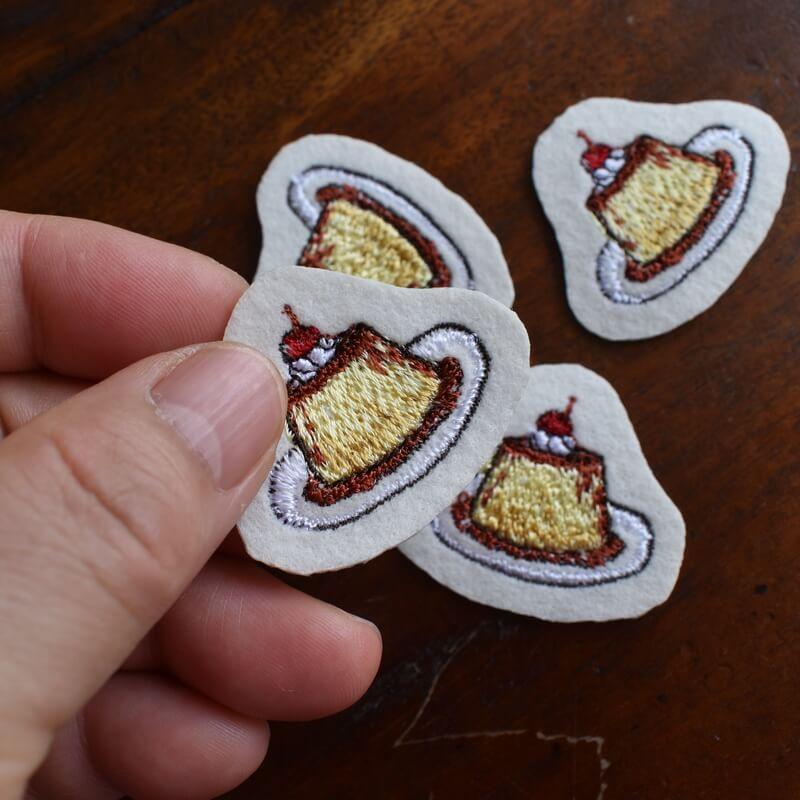 プリン刺繍ハンド