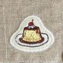 プリン[スイーツ]刺繍図案ステッカー