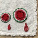 スイカ(M)(L)刺繍のステッカーワッペン