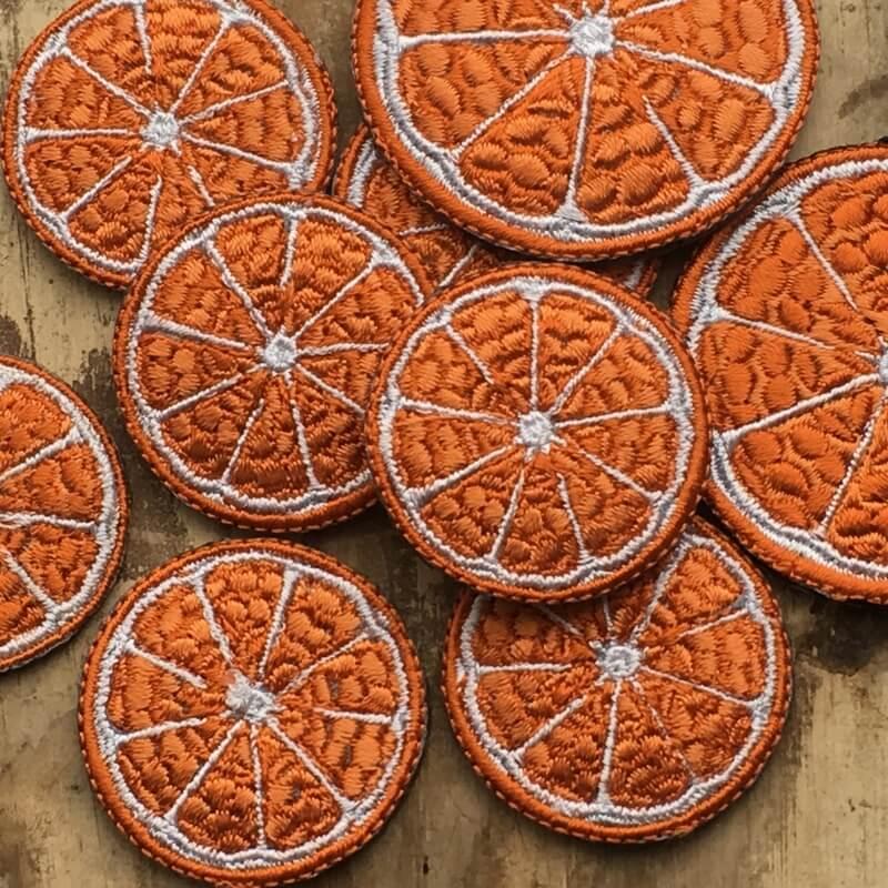 刺繍ワッペン/オレンジ盛り合わせ
