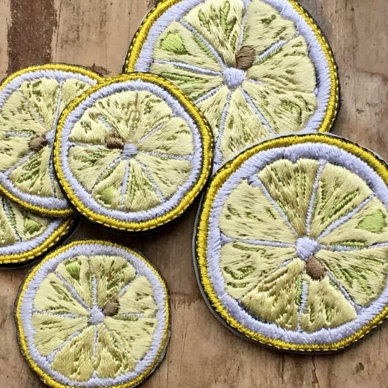 刺繍ワッペン/レモン盛りだくさんアップ