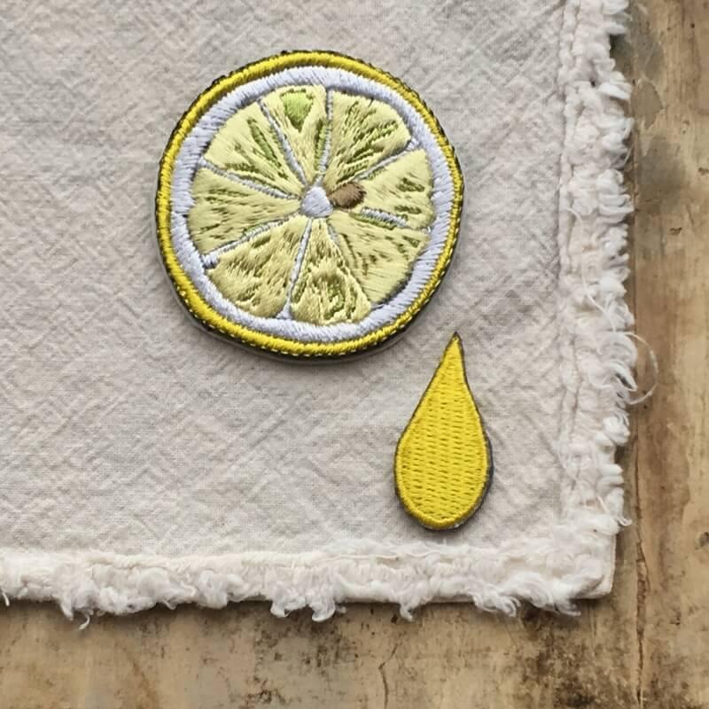 刺繍ワッペン/レモンL