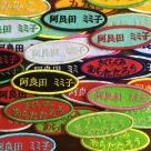 お名前刺繍ワッペン/明朝体[楕円M]全体カラーイメージアップ