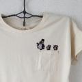 ペンギン行進[シルクハット]刺繍Tシャツハンガー