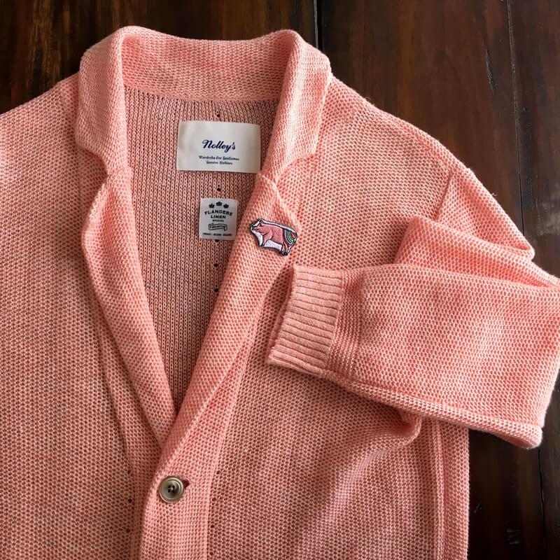 虹色ブタ刺繍ジャケット
