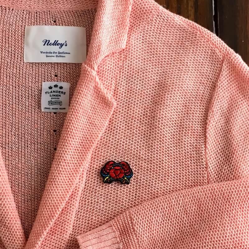 虹色カニ刺繍ジャケット