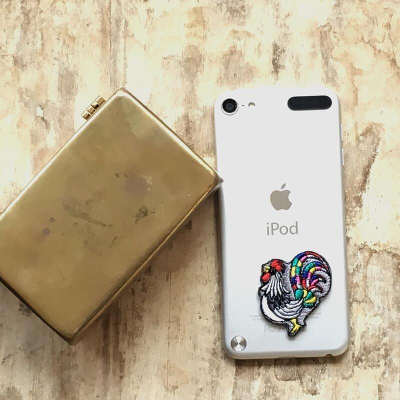 虹色風見鶏刺繍iPad