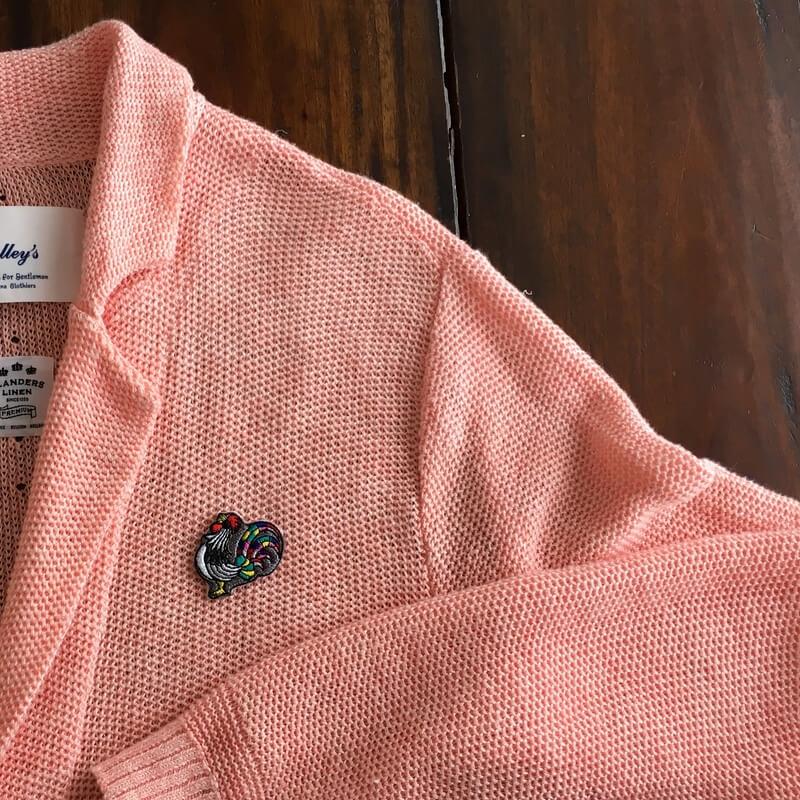 虹色風見鶏刺繍ジャケット