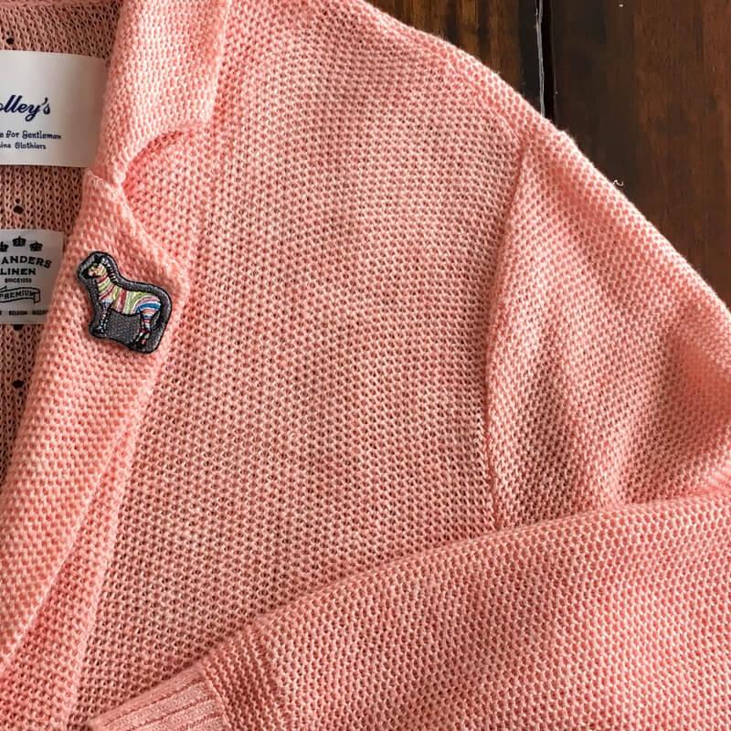 虹色シマウマ刺繍ジャケット