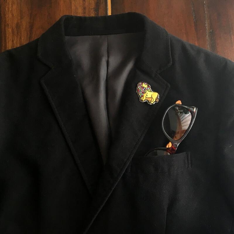 虹色ライオン/刺繍ジャケット