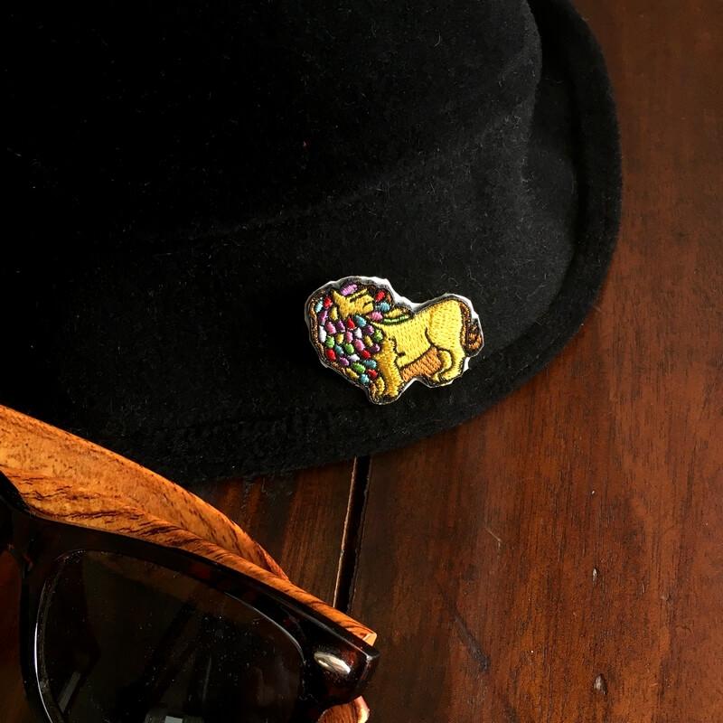 虹色ライオン/刺繍HAT