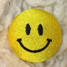 スマイル刺繍ボタンLサイズアップ